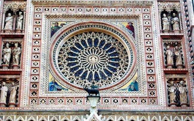 architettura classica orvieto duomo rosone