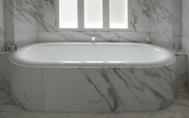 Vasca da bagno in marmo Calacata Golden, Arredamento Interni