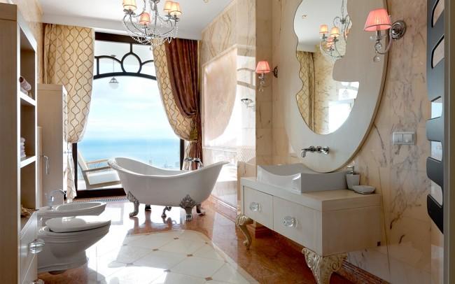 Villa Yalta bagno secondario - rosa portogallo, spring yellow
