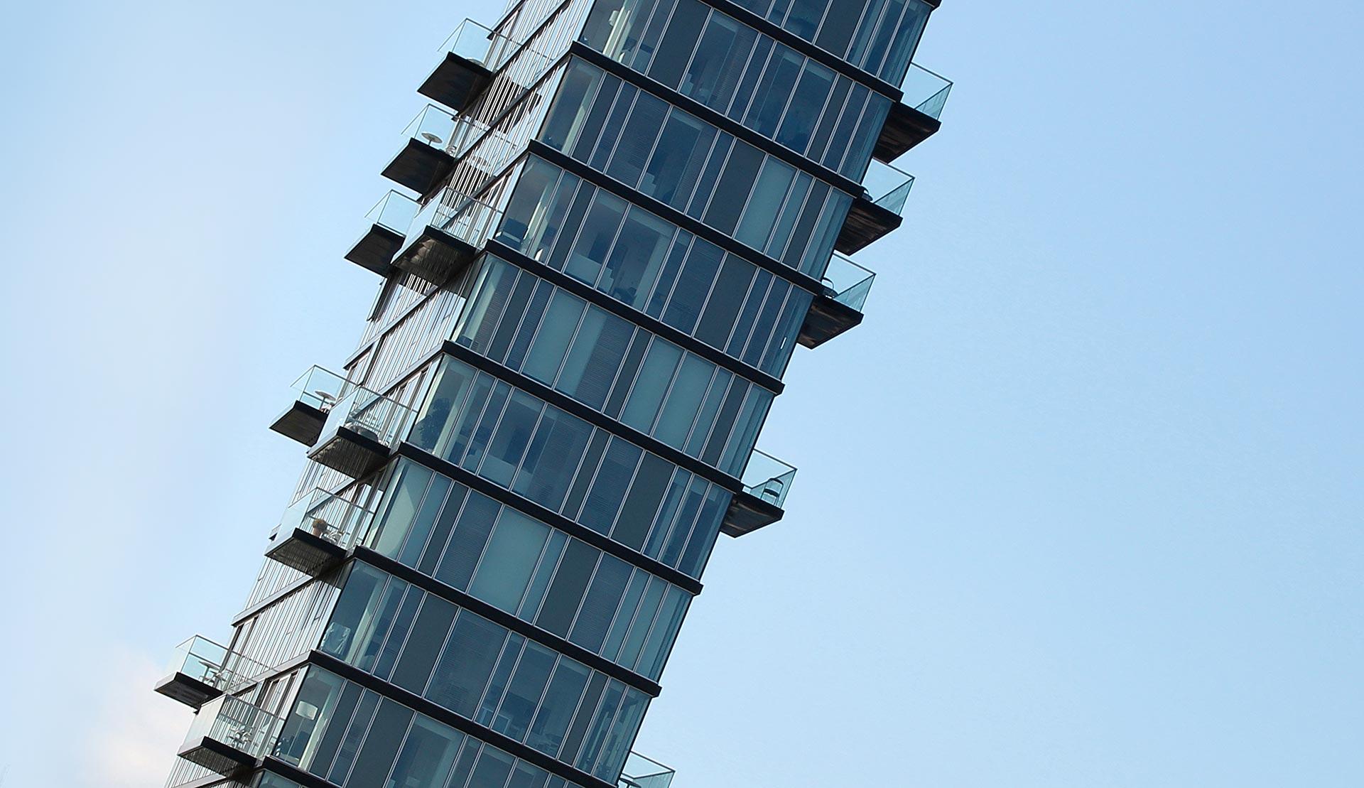Architettura residenziale alto vetro dublino irlanda