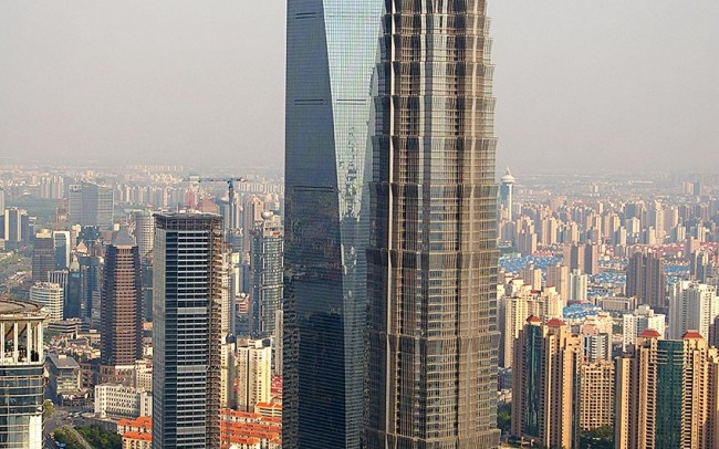 Jim Mao Tower Shangai, marmo Calacata Golden