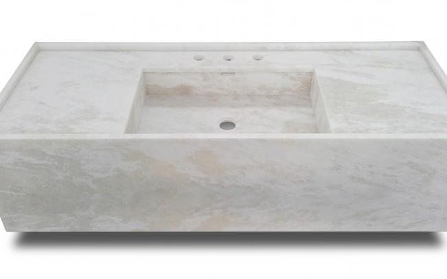 Lavabo in marmo Bianco Namibia