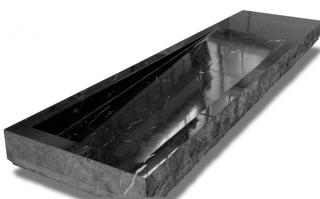 Lavabo in Massello - Marmo Nero Marquina